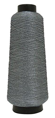 Telephone Threads Nähmaschine Stickerei Grau Gewinde 100% Polyester 600 Meter Garn (Indien Nähmaschine)