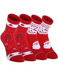 Fazitrip calcetines para la Navidad con 2 pares, calcetines de deporte, La mejor opción para regalos de Navidad.