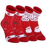 Fazitrip calcetines deportivos de corte bajo para hombres y mujeres 2 pares, utiliza diseño aséptico Cleandry y para crear calcetines sin olores. Conexión sin costuras para mayor comodidad. (M, rojo)