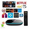 QcoQce Q Box Android 5.1 Kodi 16.0 Fully Load Tv Box Amlogic S905 Quad Core 2G/8G 4K H.265 Wifi Streaming Media Player