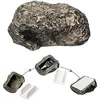 SAFETYON Schlüssel versteck Stein für Ersatzschlüssel außen, Geheimversteck Schlüsselstein Garten 6 x 8 x 3 cm Haus Sicher