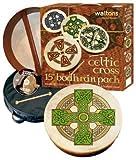 Waltons - Coffre cadeau Bodhrán 18 Shamrock - pochette, batteur, DVD inclus / Cloghan Cross Bodhran Design