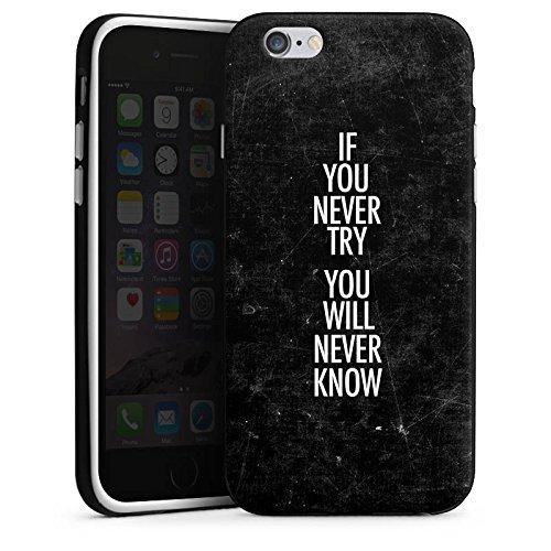 Apple iPhone X Silikon Hülle Case Schutzhülle Sprüche Motivation Fitness Silikon Case schwarz / weiß