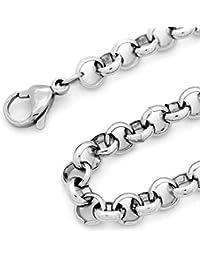 RUBY-Collar de acero inoxidable para hombre mujer Grosor 6 mm ENVIO DESDE ESPAÑA (51cm)