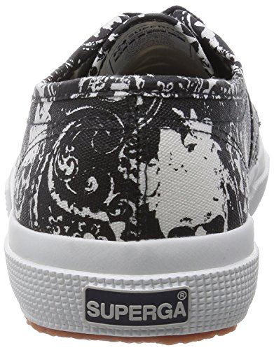 Superga 2750-fantasy Cotu, Low-Top Chaussures mixte adulte Multicolore (Arabesqskulls Blkwht)