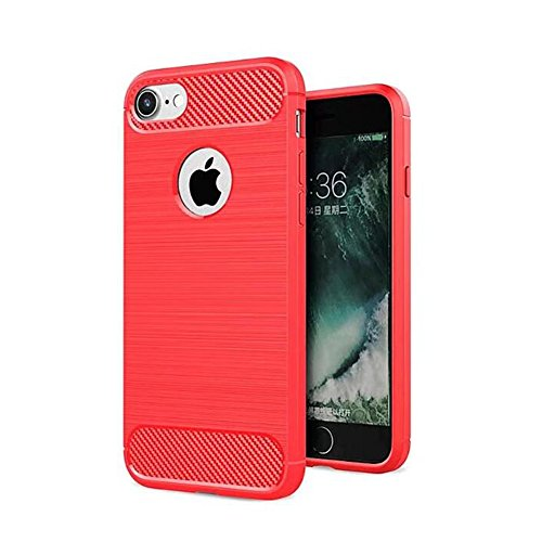 Apple iPhone 8 Coque, TopACE® Ultra Fine Mince Slim Effet Rigida Antichoc Etui Back Case Cover Parfait Design pour Apple iPhone 8 (Gris) Soft Cover-Rouge IV
