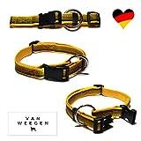 VAN WEEGEN Field & Sport | Hunde-Halsband | für große Hunde | Nylon | verstellba (XL/25mm, Gelb)