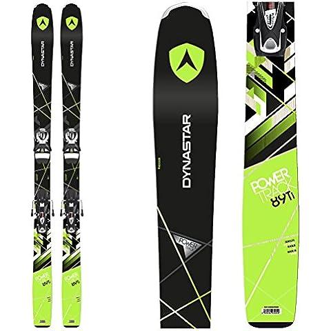 Dynastar–Pack esquí Powertrack 89FLX + fijaciones Look SPX12FL B90hombre–hombre–negro, negro, 165