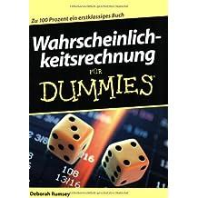 Wahrscheinlichkeitsrechnung für Dummies by Deborah Rumsey (2006-10-10)