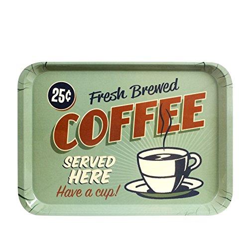 CKB Ltd® American Style Retro Diner COFFEE Food SERVING TRAY Tablett Küche Ideal für Abendessen, Tee Time, Sandwiches, Snacks und mehr - aus starken Melamin Kunststoff hergestellt