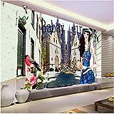 Lovemq Custom 3D Foto Wallpaper Salón Mural De La Ciudad Hd Belleza Mariposa Pintura 3D Sofá Tv Fondo Pared Papel Tapiz Para Pared 3D-260X175Cm