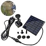 LARS360 Solar Teichpumpe Outdoor Wasserpumpe Solar Springbrunnen Solarpumpen Gartenpumpe für Gartenteich (1.2W Platz)