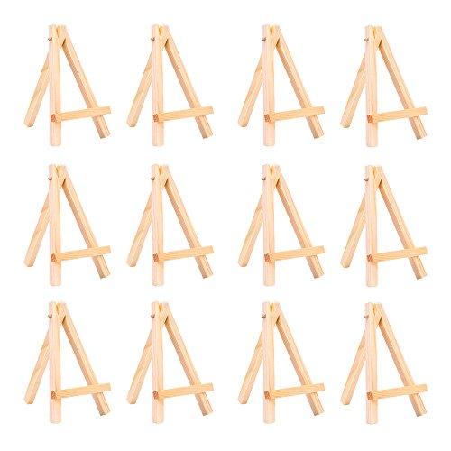 12 Stück Mini Holz Anzeige Staffelei Malerei Malen Stand, 5 Zoll (Holz Anzeigen)