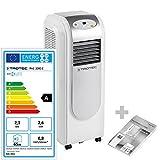 TROTEC Lokales mobiles Klimagerät Klimaanlage PAC 2000 E mit 2,1 kW/7.200 Btu, EEK A (inkl. Timer-Funktion, Fernbedienung, 3 Ventilationsstufen, Einstellbare Luftausblasrichtung)