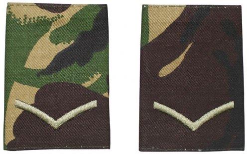 Brit. Schulterklappen, DPM, 10 Paar, LANCE CORPORAL, neuw.
