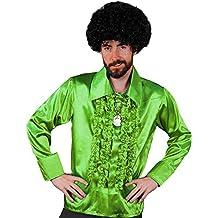 Camisa blanca con volantes estilo discoteca de 1970 para hombre, disfraz del rey de la discoteca, talla XL, I Love Fancy Dress ILFD4603M