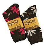 Sockstack® 10paia di calzini, motivo: foglie di marijuana, modello confortevole, taglia 39-45 nero 40 x Black