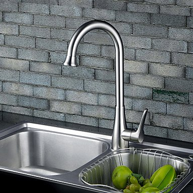 SHUYOU® Contemporary Chrome Finish One Hole Single Handle Deck Mounted Rotatable Kitchen Faucet