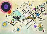 Kandinsky c1923, 8. Komposition, 250 gsm Poster-Reproduktion, glänzend, A3