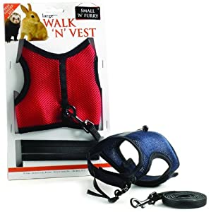 Jogging Harness LARGE Walk N Vest (guinea pigs, rabbits) by Ferplast