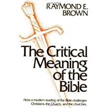 Critical Meaning of the Bible