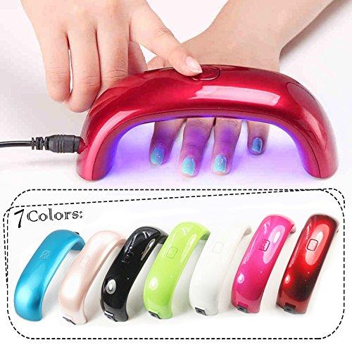 Perfect Summer 9W Mini Lampe LED Portable Séchoirs à Ongles pour Vernis Semi Permanent, Gel UV avec Durée de 30 Secondes, Noir