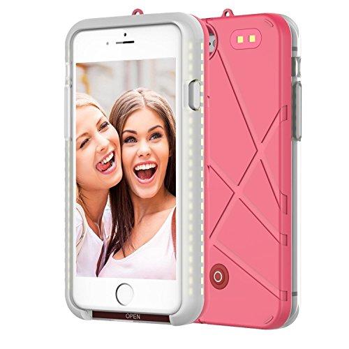 Caso Selfie Luce Luminoso Solo per iPhone 7/iPhone 8, LED Illuminato Banca Di Potere Del Caricabatteria, Telefono Cellulare Custodia Flash Light 4.7 ...