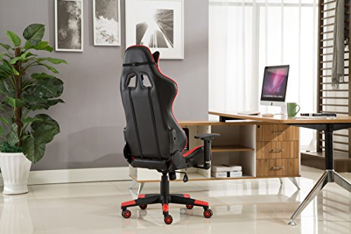 Quantity & JL Comfurni Gaming Chair Chesterfield Ergonomic Swivel Office Chair ...