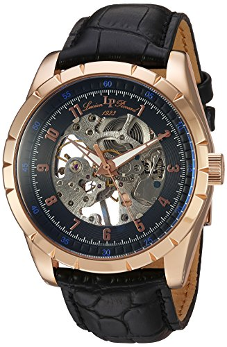 Lucien Piccard Men's Analogue Mechanical Watch with Leather Strap LP-40028M-RG-01