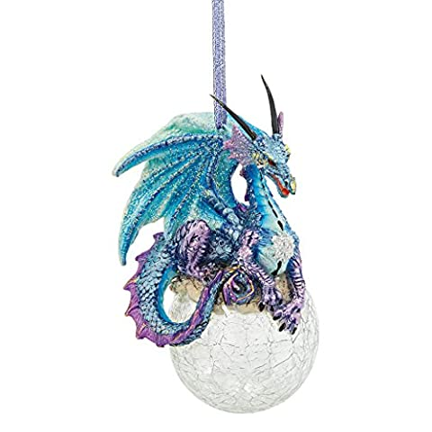 Design Toscano Frost, the Gothic Dragon 2013 Holiday Ornament - Set of 3