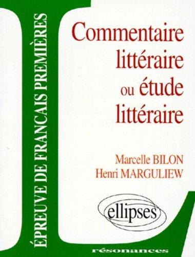 Epreuves anticipées de français, 2e sujet, commentaire littéraire ou étude littéraire