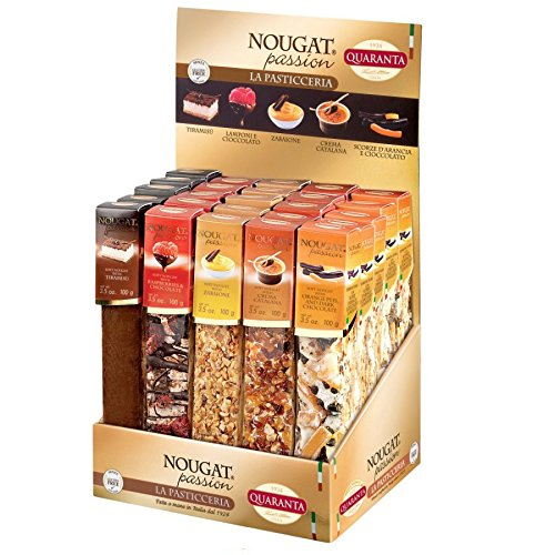 Mixed Flavours - Desserts Soft Nougat Passion Italian Sweets Quaranta 100g (Pack of 5)