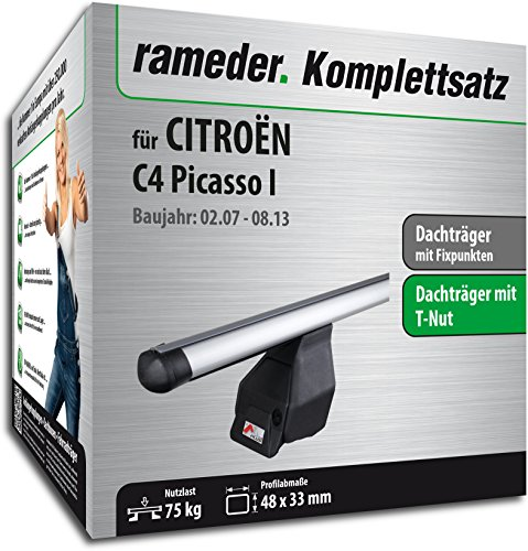 Rameder Komplettsatz, Dachträger Tema für Citroën C4 Picasso I (118795-05601-2)