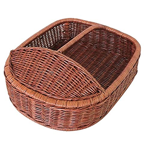 Xuan - worth having Brown Bamboo Rattan Room Shoe Basket Hotel Chaussures Baskets Hôtel Shoe Rack Hotel Daily Necessities Creative Fashion Manual