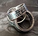 Coinring, Münzring, Ring aus Münze (1957 Heiermann - Silberadler - 5 Mark), 625er Silber - Double Sided coin ring - verschiedene Größen, Ihr handgeschmiedetes Unikat