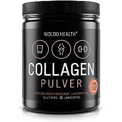 Collagen Protein-Pulver 100% reines Rinder-Kollagen aus Weidehaltung - 500g Hydrolysat geschmacksneutral leichtlösliches Eiweiß Protein Peptides Lift-Drink