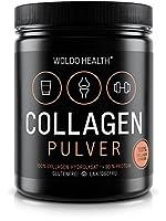 WoldoHealth Kollagen 100% Protein reines Hydrolysat Collagen Pulver geschmacksneutral leichtlöslich auf Basis von Rindern 500g