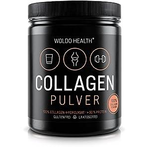 WoldoHealth Kollagen 100% Protein reines Hydrolysat Collagen Pulver 500g geschmacksneutral leichtlöslich auf Basis von Rindern