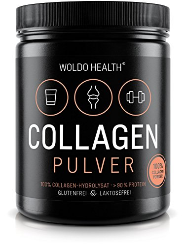 Collagen Protein-Pulver 100{1fcf96a327165445b3a4e5048e567f196c412235793cd7ebbb81ae0d6c227f45} reines Kollagen 500g Hydrolysat - geschmacksneutral leichtlöslich Eiweiß Protein Peptides Lift Drink