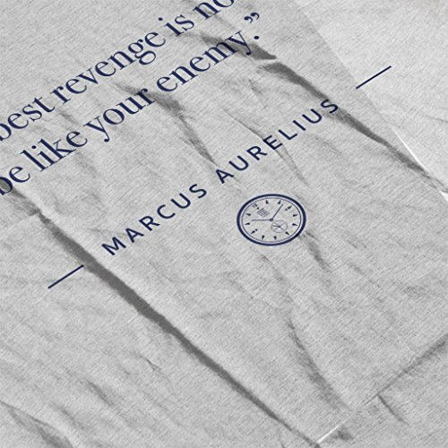 Stoic Time Marcus Aurelius The Best Revenge Quote Women's Vest Heather Grey