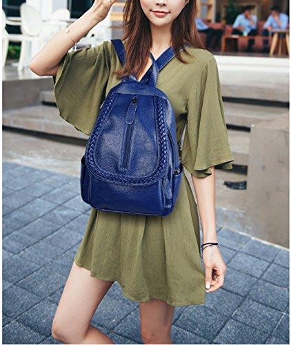 BAAFG Herbst Und Winter Jugend Student Shopping Frauen Rucksack Blue