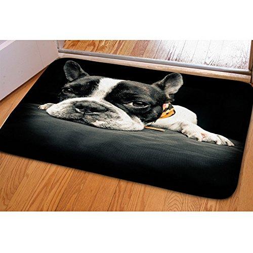 RedBeans Fußmatte, süße Französische Bulldogge Aufdruck, für drinnen und draußen, für Schlafzimmer, Küche, Badezimmer, Teppich (Küche-teppich Französische)