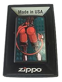 Zippo Custom Lighter - Satan's Sexy Devil Babe w/ Leather Black Matte