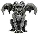 Gargoyle Figur mit Widderhörnern - Dämon