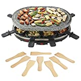 Cooks Professional Premium Rustic Stone Raclette Grill Hot Plate with Thermostatic Heat Control