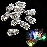 10x Mini LED Leuchte Luftballon Lampe Blinker Weihnacht Ballon Licht Party Bunt