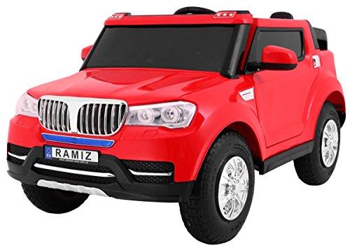 BSD Elektro Kinderauto Elektrisch Ride On Kinderfahrzeug Elektroauto Fernbedienung - S8088 AIR Gepumpte Räder 2-Sitzer - Rot*