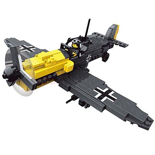 Modbrix 82005 - 300-teiliges Bausteine Set, Jagdflieger Focke Wulf 190 inkl. Pilot thumbnail