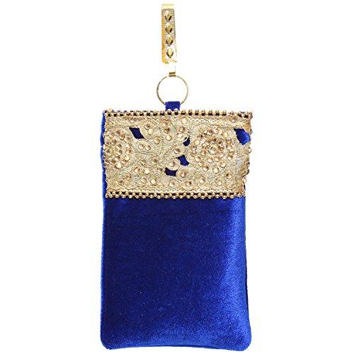 Bagaholics Ethnic Velvet Saree Clutch Mobile Pouch Waist Clip Ladies Purse Gift...