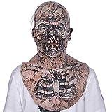 Horror Mask_Zombie Horror Mask Halloween Maison hantée Accessoires Salle d'évasion Masque Latex